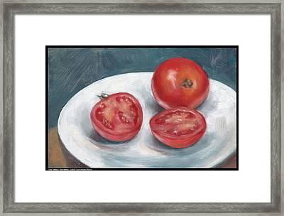 One Tomato Two Halves Framed Print