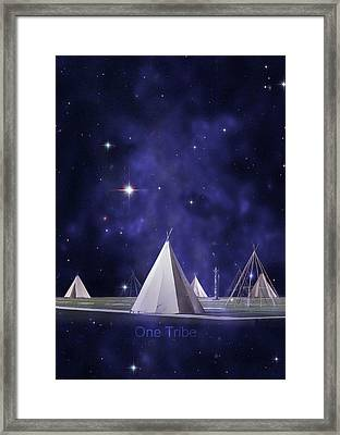 One Tribe Framed Print by Laura Fasulo