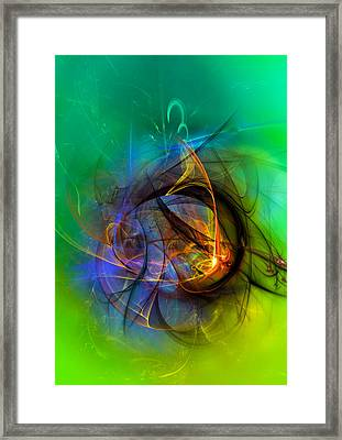 Colorful Digital Abstract Art - One Warm Feeling Framed Print