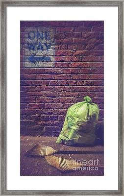 One Way Cleaning Framed Print by Danilo Piccioni