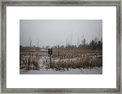 One Way Framed Print by Dan Crosby