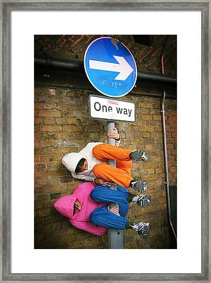 One Way Framed Print by Stephen Norris