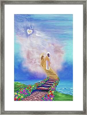 One Way To God Framed Print by Susanna  Katherine