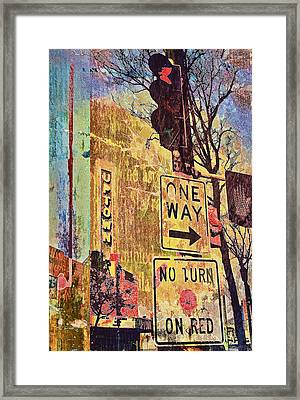 One Way To Uptown Framed Print