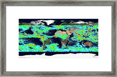 One Week Accumulated Global Precipitation Framed Print by Nasa's Scientific Visualization Studio