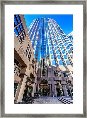One Wells Fargo Center Framed Print by Randy Scherkenbach