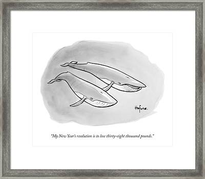 One Whale Says To Another Framed Print