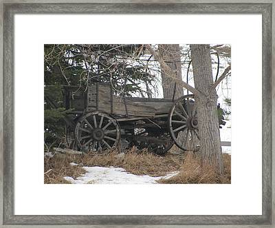 One Wheel Up Framed Print by Steven Parker
