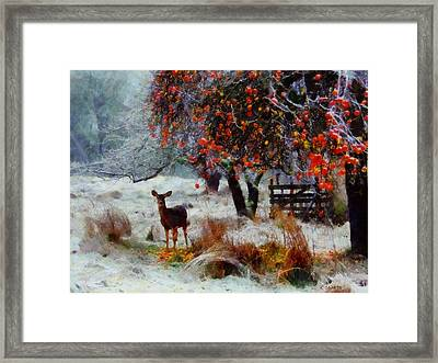 Framed Print featuring the digital art One Winter Morning by Kai Saarto