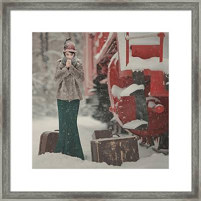 One Winter Story Framed Print