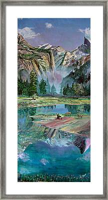 One With Nature Framed Print by Sarabjit Singh