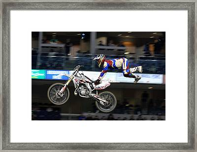 One With The Bike Framed Print by Karol Livote