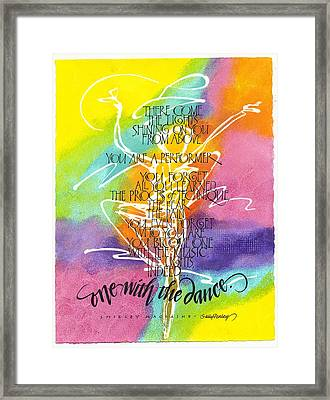 One With The Dance Framed Print by Sally Penley