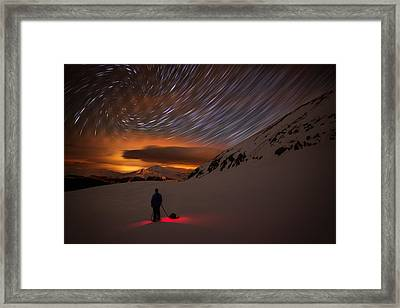 One With The Night Framed Print by Mike Berenson