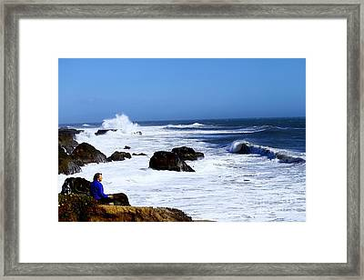 Framed Print featuring the photograph One With The Ocean by Theresa Ramos-DuVon