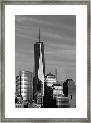 One World Trade Center Bw Framed Print by Susan Candelario