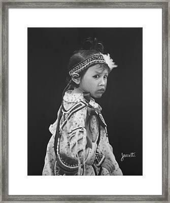 Oneida Girl Framed Print