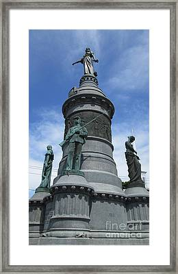Framed Print featuring the photograph Oneida Square Civil War Monument by Peter Gumaer Ogden