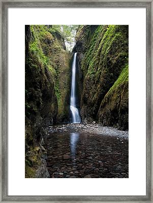 Oneonta Falls Framed Print by Brian Bonham