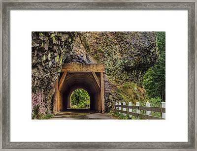 Oneonta Tunnel Framed Print