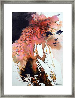 Framed Print featuring the painting Onesti by Ed  Heaton
