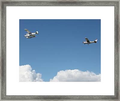 Ongoing Flight  Framed Print by Mavis Reid Nugent
