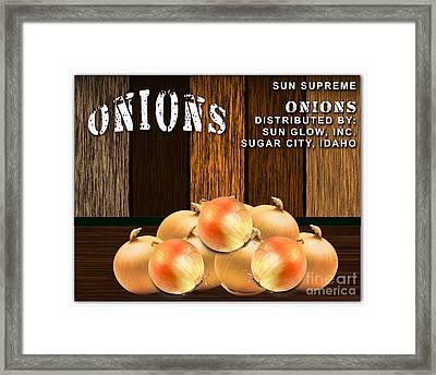 Onion Farm Framed Print by Marvin Blaine