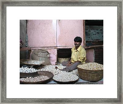 Onion Man Framed Print