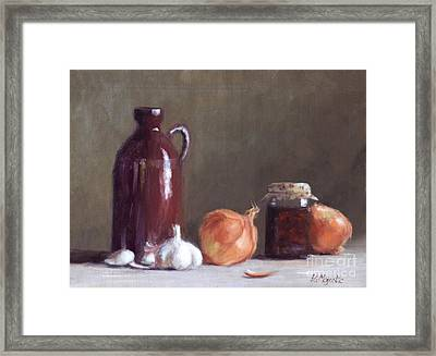 Onions And Sundried Tomatoes Framed Print