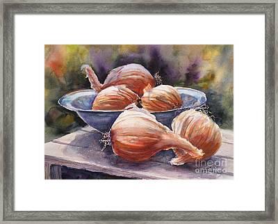 Onions Framed Print by Mohamed Hirji
