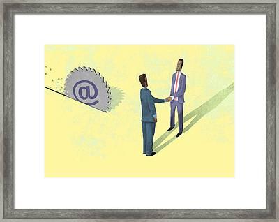 Online Buzzsaw Framed Print