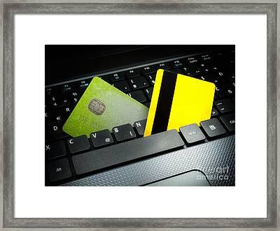 Online Payment Framed Print by Sinisa Botas