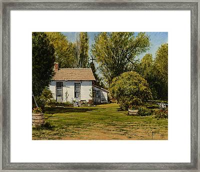 Framed Print featuring the painting Only A Memory by Steve Spencer