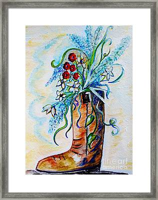 Only A Woman Framed Print