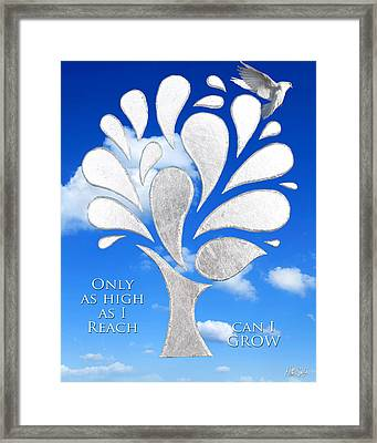 Only As High As I Reach Can I Grow Framed Print by Nikki Smith