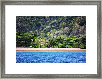 Only By Boat Framed Print