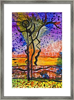 Only Chaos To Climb Framed Print