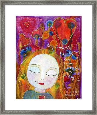 Only From The Heart Framed Print