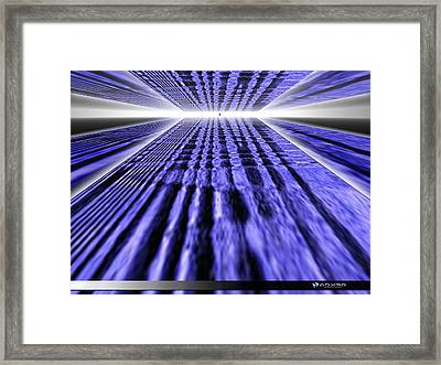 Only One Way Forward. Framed Print