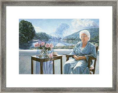 Only The Body Withers Framed Print by Lucie Bilodeau