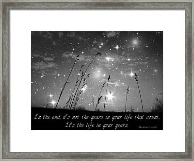 Only The Stars And Me...in The End... Framed Print