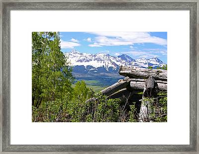 Only The Structures Crumble Framed Print
