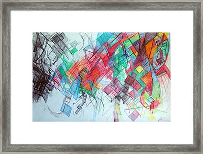 only through the blessing of Hashem Yisborach 1 Framed Print