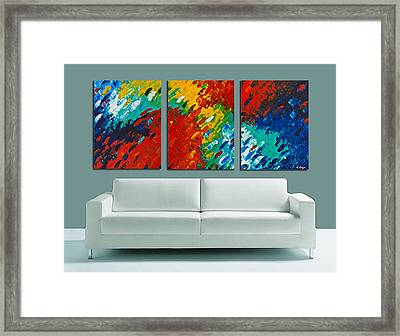 Only Till Eternity Hung As A Triptych By Sharon Cummings Framed Print by Sharon Cummings