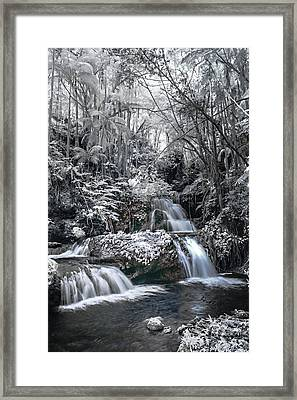 Onomea Falls In Infrared 2 Framed Print