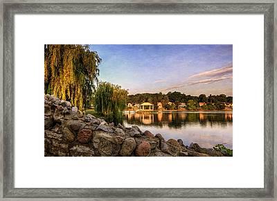 Onondaga Park Hiawatha Lake Framed Print