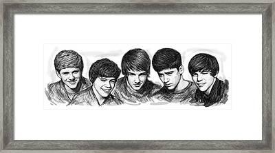 Onr Direction Art Long Drawing Sketch Poster Framed Print
