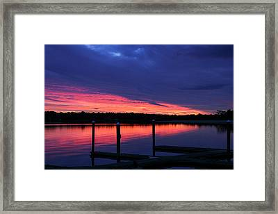 Onset Beach At Sunset, Onset, Wareham Framed Print by Susan Pease