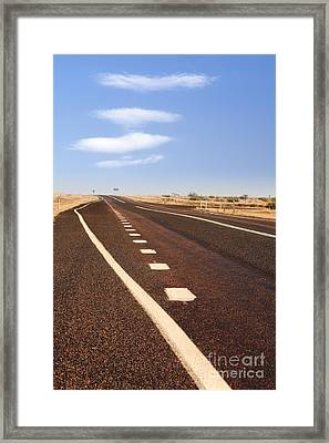 Onwards And Upwards Concept Road And Stairway To Heaven Sky  Framed Print by Colin and Linda McKie