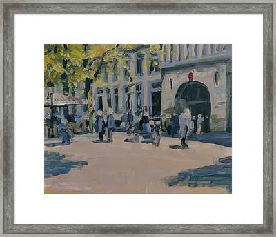Onze Lieve Vrouwe Plein Maastricht Framed Print